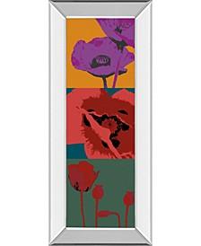 "Pop Poppies by Li-Legger, D Mirror Framed Print Wall Art - 18"" x 42"""