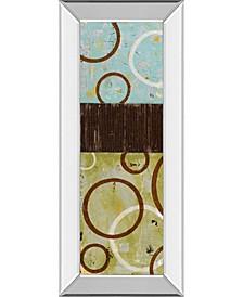 """Sun Flower I by Natalie Avondet Mirror Framed Print Wall Art - 18"""" x 42"""""""