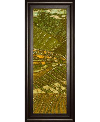 "Vineyard Batik I by Andrea Davis Framed Print Wall Art - 18"" x 42"""