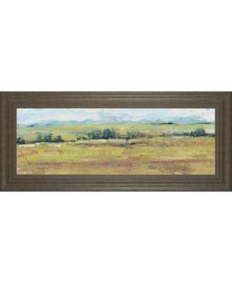 "Distant Treeline Panel II by Tim Otoole Framed Print Wall Art - 18"" x 42"""
