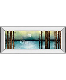 """Love You To The Moon and Back by Marla Rae Mirror Framed Print Wall Art - 18"""" x 42"""""""