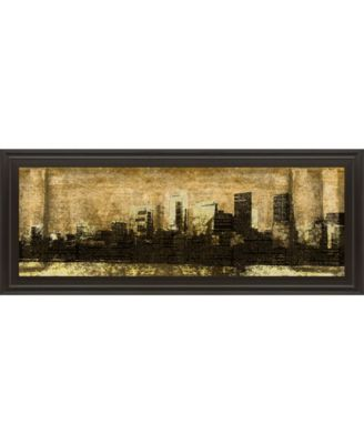 """Defined City I by SD Graphic Studio Framed Print Wall Art - 18"""" x 42"""""""