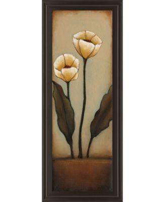 "Jardin De Flores I by H. Alves Framed Print Wall Art - 18"" x 42"""