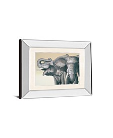 "Elephant by Peter Moustakas Mirror Framed Print Wall Art - 22"" x 26"""
