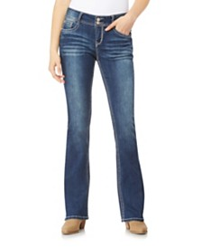 WallFlower Luscious Curvy Bootcut With Bling Back Pocket Jeans