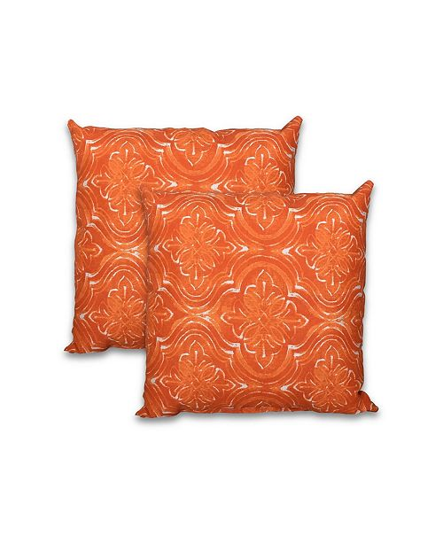 "Savvy Chic Living 16"" Square Pillow, 2 Pack"