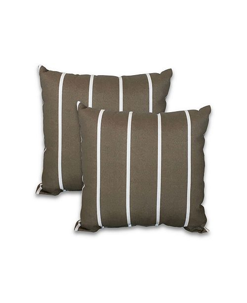 """Savvy Chic Living 16"""" Square Pillow, 2 Pack"""