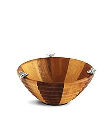 Bee Hive Wood Salad Bowl - Single Serve