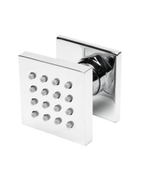 "Alfi brand Polished Chrome 2"" Square Adjustable Shower Body Spray Bedding"