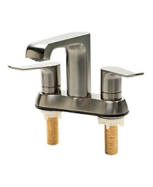 Brushed Nickel Two-Handle 4'' Center set Bathroom Faucet