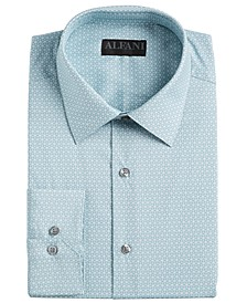 Alfani Men's AlfaTech Slim-Fit Performance Stretch Moisture-Wicking Wrinkle-Resistant Cube-Print Dress Shirt, Created for Macy's