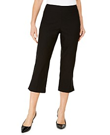 Petite Embellished-Hem Capri Pants, Created for Macy's