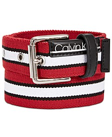 Big Boys Striped Flat-Strap Belt