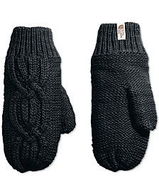 The North Face Women's Fleece-Lined Cable-Knit Mittens