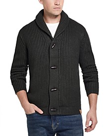 Men's Ribbed Cardigan with Toggles