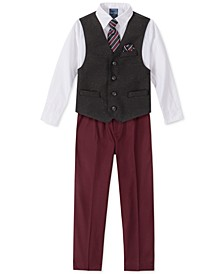 Little Boys 5-Pc. Herringbone Donegal Vest Set