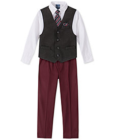 Nautica Little Boys 5-Pc. Herringbone Donegal Vest Set