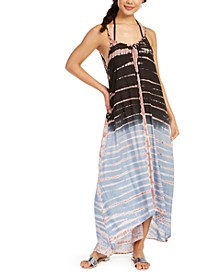 Tie-Dyed Maxi Swim Cover-Up Dress