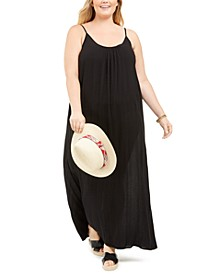 Plus Size Sleeveless Cover-Up Maxi Dress