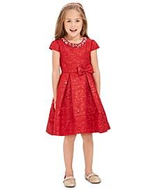 Little Girls Embellished Brocade Dress