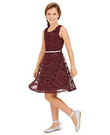 Speechless Big Girls Glitter Lace Dress