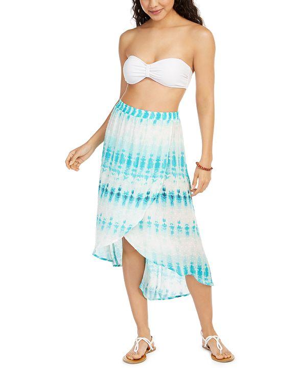 J Valdi Tie-Dyed Swim Cover-Up Skirt