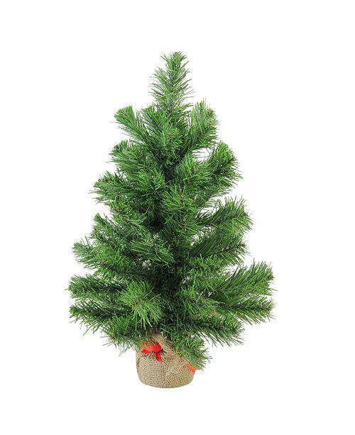 Northlight Mini Pine Artificial Christmas Tree in Burlap Base - Unlit