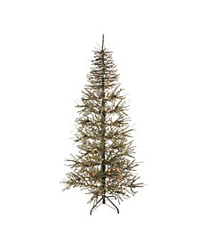 6' Pre-Lit Slim Warsaw Twig Artificial Christmas Tree - Clear Lights