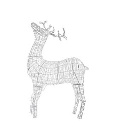 9.5' Pre-lit Commercial Size 3D White Reindeer Christmas Outdoor Decoration