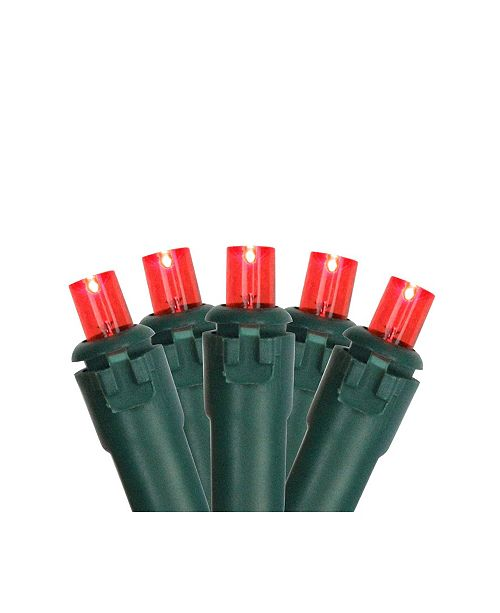 Northlight Set of 50 Red LED Wide Angle Christmas Lights on Green Wire