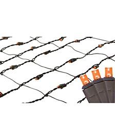 2' x 8' Orange LED Tree Trunk Wrap Christmas Net Lights - Brown Wire