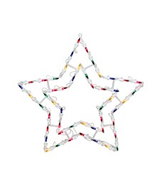 "15"" Multi-Color Lighted Star Christmas Window Silhouette Decoration"