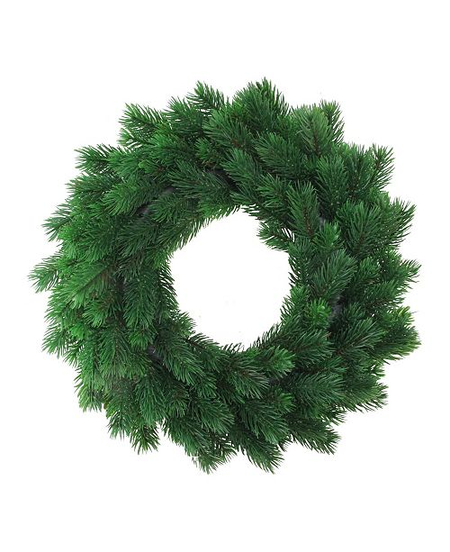 "Northlight 16"" Decorative Green Pine Artificial Christmas Wreath- Unlit"