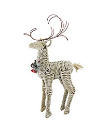 Reindeer Twine and Metal Christmas Decoration