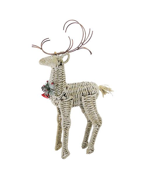 "Northlight 26"" Reindeer Twine and Metal Christmas Decoration"