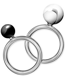 Bubbly Stainless Steel Onyx Ring