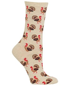 Hot Sox Women's Turkey Crew Socks
