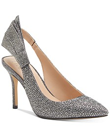 INC Women's Cersei Slingback Bling-Bow Heels, Created for Macy's