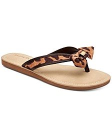 Women's Esmaraa Bow Thong Sandals, Created for Macy's