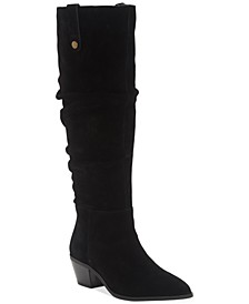 INC Women's Launa Pointed-Toe Slouch Boots, Created for Macy's