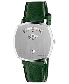 Grip Green Leather Strap Watch 38mm