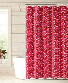 Mini Unikko Shower Curtain