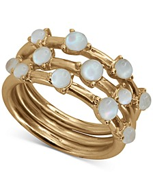 Gold-Tone 3-Pc. Set Mother-of-Pearl Stack Rings