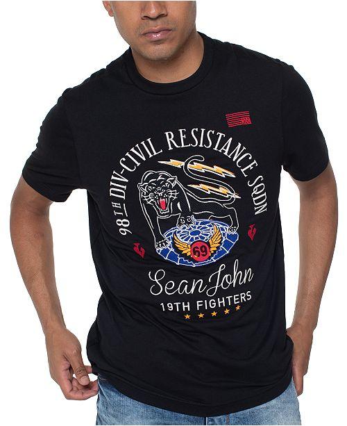 Sean John Men's Civil Resistance Graphic T-Shirt