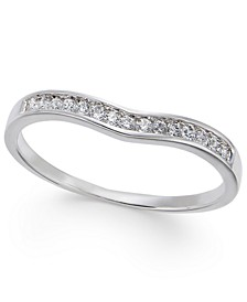 Diamond Contour Band (1/3 ct. t.w.) in 14k White Gold