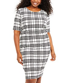 Nursing Plus Size Plaid Dress