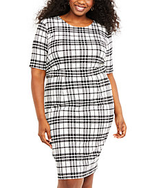 Motherhood Maternity Nursing Plus Size Plaid Dress