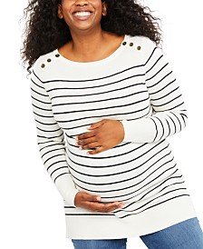 Motherhood Maternity Plus Size Striped Sweater