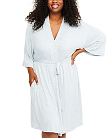 Plus Size Belted Robe