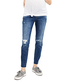 Maternity Distressed Skinny Jeans